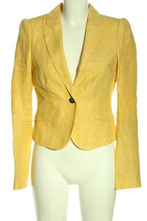 Mexx Blazer corto amarillo pálido moteado look casual
