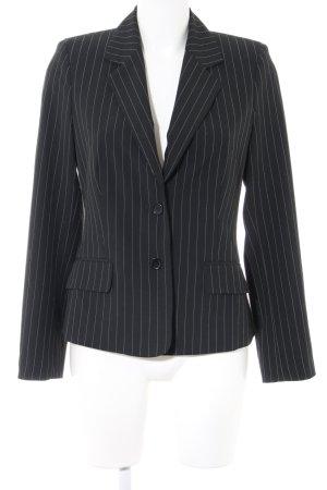Mexx Kurz-Blazer schwarz-weiß Allover-Druck Business-Look
