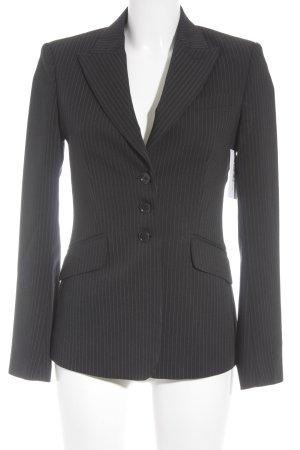Mexx Kurz-Blazer schwarz-dunkelgrau Streifenmuster Business-Look
