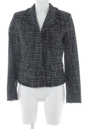 Mexx Kurz-Blazer schwarz-weiß Karomuster Elegant