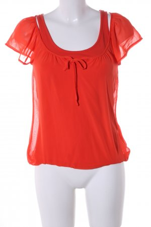Mexx Kurzarm-Bluse rot Casual-Look