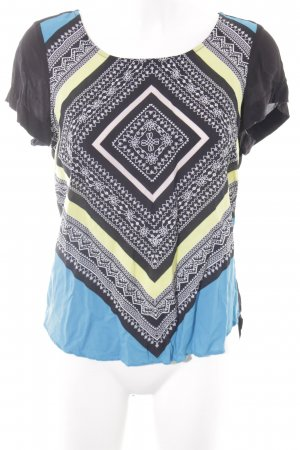Mexx Kurzarm-Bluse abstraktes Muster Casual-Look