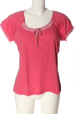 Mexx T-Shirt pink-weiß Casual-Look