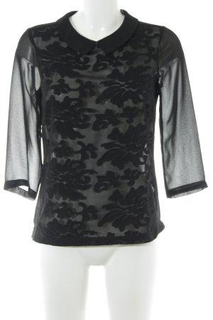 Mexx Kurzarm-Bluse schwarz Casual-Look