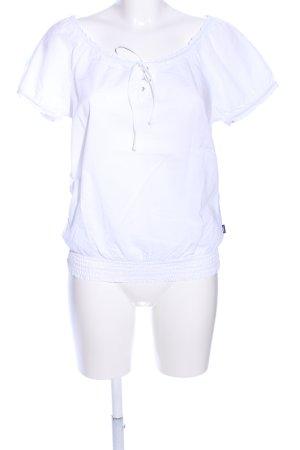 Mexx Kurzarm-Bluse weiß Casual-Look