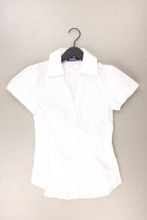 Mexx Kurzarmbluse Größe 36 weiß aus Baumwolle