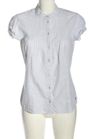 Mexx Kurzarmhemd weiß-blau Streifenmuster Casual-Look