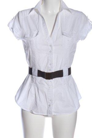 Mexx Camisa de manga corta blanco estilo «business»