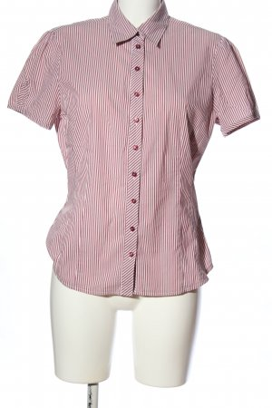 Mexx Kurzarmhemd rot-weiß Streifenmuster Business-Look