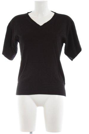 Mexx Kurzarmpullover schwarz Elegant
