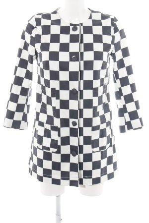 Mexx Kurzjacke schwarz-weiß Karomuster extravaganter Stil