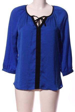 Mexx Langarm-Bluse blau-schwarz Casual-Look
