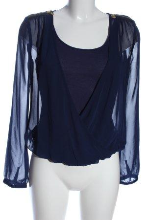Mexx Langarm-Bluse blau Business-Look