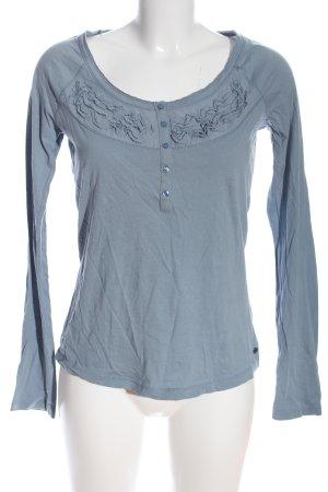 Mexx Langarm-Bluse blau Casual-Look