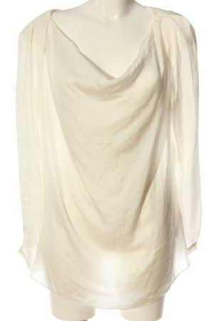 Mexx Bluzka z długim rękawem w kolorze białej wełny Elegancki