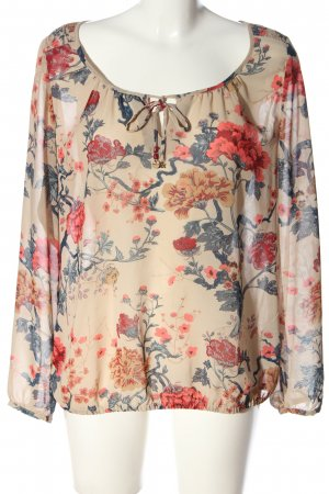 Mexx Langarm-Bluse Allover-Druck Casual-Look
