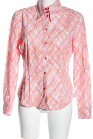 Mexx Langarmhemd pink Allover-Druck Business-Look