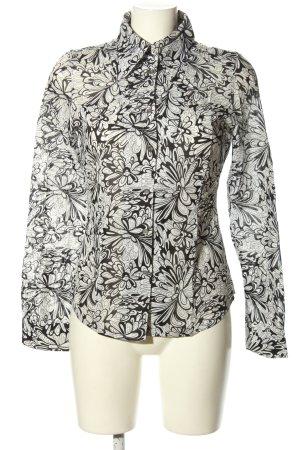 Mexx Langarmhemd weiß-schwarz Allover-Druck Casual-Look