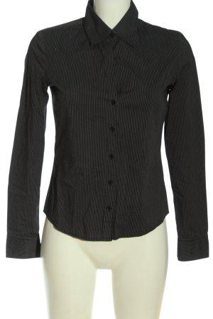 Mexx Langarmhemd schwarz-weiß Allover-Druck Business-Look