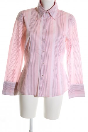 Mexx Langarmhemd pink-lila Streifenmuster Business-Look
