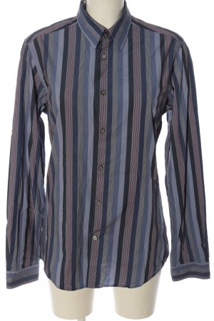 Mexx Langarmhemd blau Streifenmuster Casual-Look