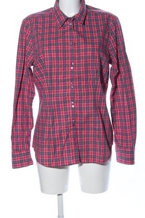 Mexx Camisa de manga larga rojo-negro estampado a cuadros look casual