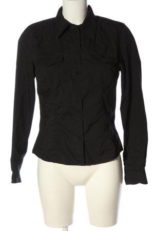 Mexx Chemise à manches longues noir style d'affaires