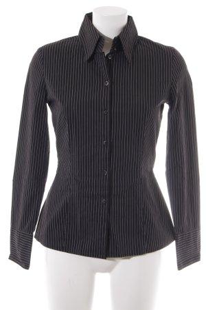 Mexx Langarmhemd schwarz-weiß Business-Look