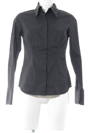 Mexx Langarmhemd schwarz-weiß Punktemuster Casual-Look