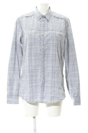 Mexx Langarmhemd weiß-graulila Karomuster klassischer Stil