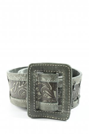 Mexx Leather Belt khaki-brown themed print casual look