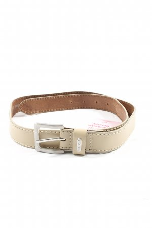 Mexx Leather Belt natural white casual look