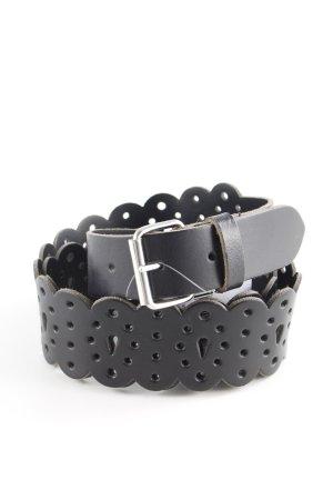 Mexx Cintura di pelle nero stampa astratta stile classico