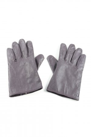 Mexx Leather Gloves light grey casual look