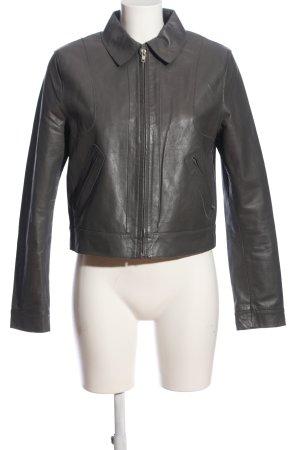 Mexx Veste en cuir gris clair style décontracté