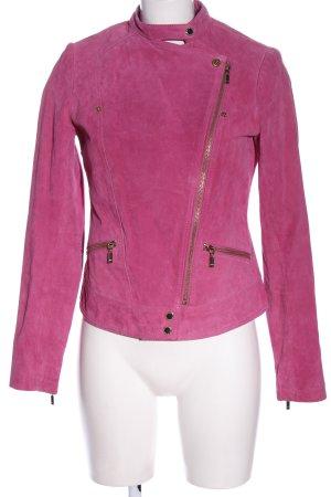 Mexx Lederjacke pink Casual-Look