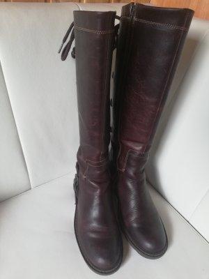Mexx Bottes à lacets brun-brun foncé cuir