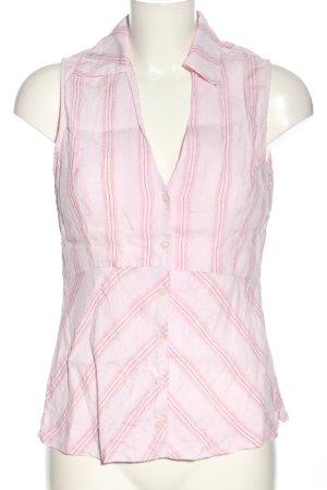 Mexx Lniana bluzka różowy Wzór w paski W stylu biznesowym