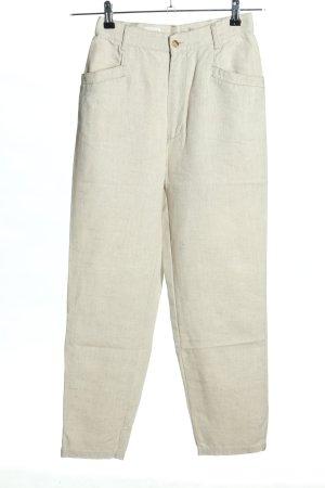 Mexx Pantalon en lin crème style décontracté
