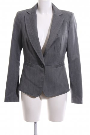 Mexx Long-Blazer hellgrau Streifenmuster Business-Look