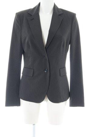 Mexx Long-Blazer schwarz-hellgrau Streifenmuster Business-Look