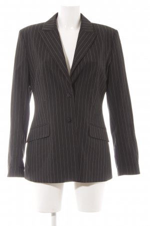 Mexx Long-Blazer schwarz-hellgrau Nadelstreifen Business-Look