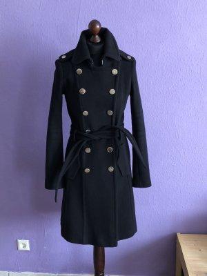Mexx Manteau d'hiver noir-argenté cachemire