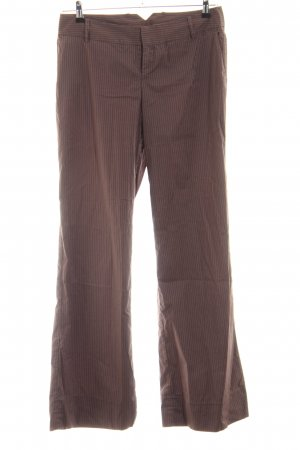 Mexx Marlene Trousers bronze-colored-natural white striped pattern