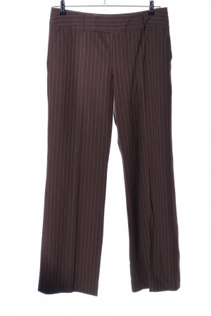 Mexx Marlene Trousers brown-white striped pattern business style