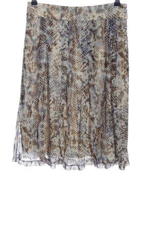 Mexx Spódnica midi jasnoszary-brązowy Na całej powierzchni W stylu casual