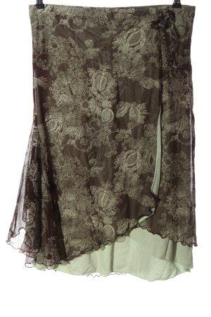 Mexx Spódnica midi brązowy-w kolorze białej wełny Abstrakcyjny wzór