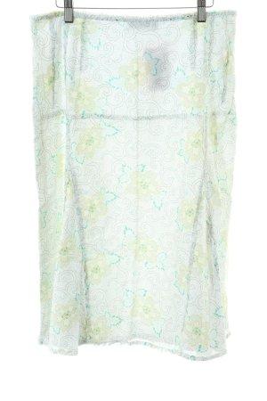 Mexx Spódnica midi turkusowy-bladożółty Na całej powierzchni W stylu casual