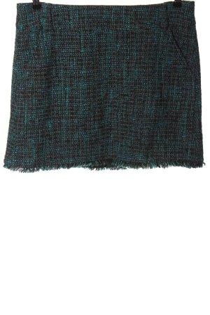 Mexx Spódnica mini czarny-turkusowy Melanżowy W stylu casual