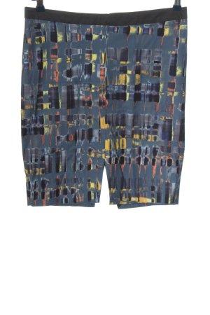 Mexx Minirock blau-blassgelb abstraktes Muster Casual-Look